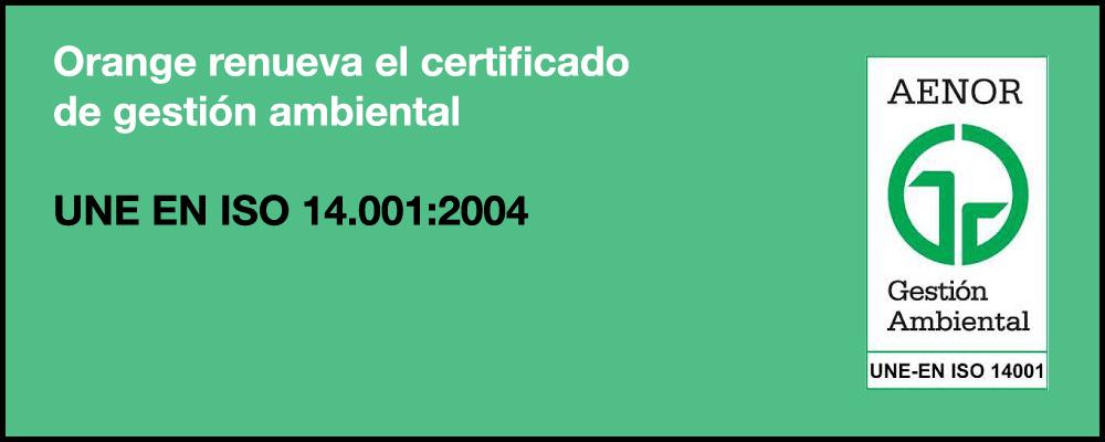 Certificado de gestión ambiental
