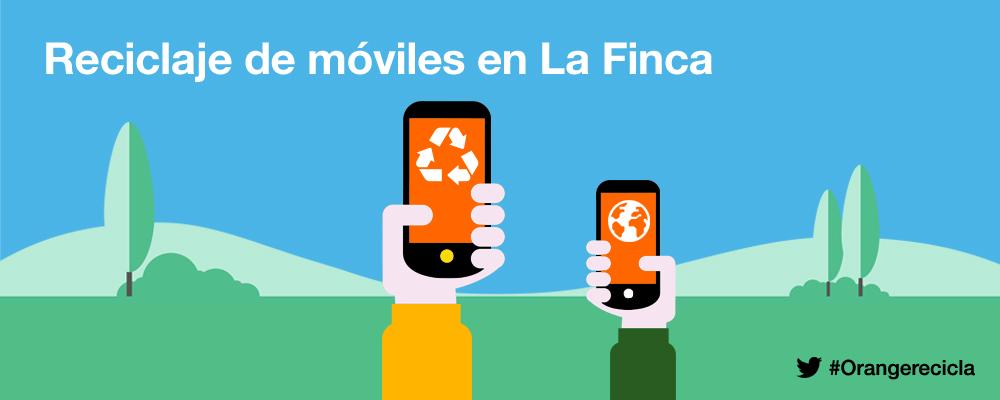 Reciclaje de móviles en Orange